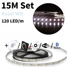 15 meter Koud Wit led strip set - 1800 LED