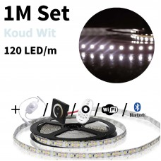 1 meter Koud Wit led strip set - 120 LED