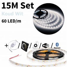 15 meter Koud Wit led strip set - 900 LED