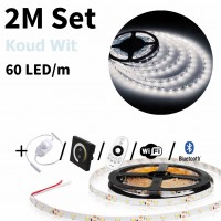 2 meter Koud Wit led strip set - 120 LED