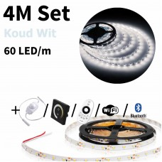 4 meter Koud Wit led strip set - 240 LED