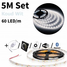 5 meter Koud Wit led strip set - 300 LED