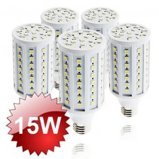 E27 LED Corn Lamp 15W 5-PACK
