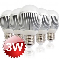 E27 LED Lamp 3W 5-PACK