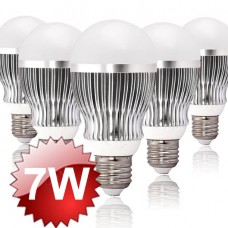 E27 LED Lamp 7W 5-PACK