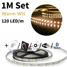 1 meter Warm Wit led strip set - 120 LED