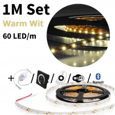 1 meter Warm Wit led strip set - 60 LED